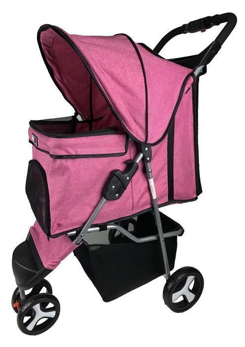 Dogline 3 Wheel Stroller Pink