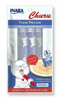 INABA Churu Creamy Puree In A Tube Tuna 4 Tubes