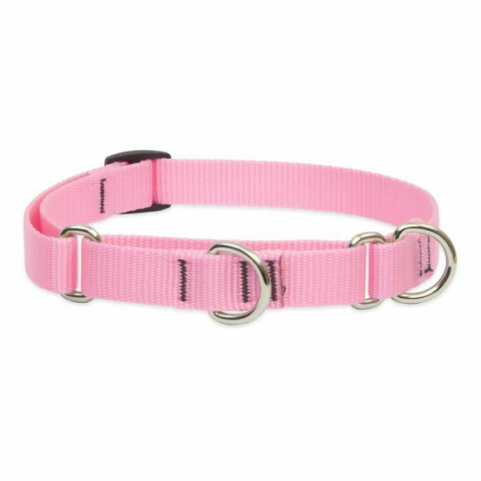 "Lupine Basic 1"" Martingale Collar 19-27"" Pink"