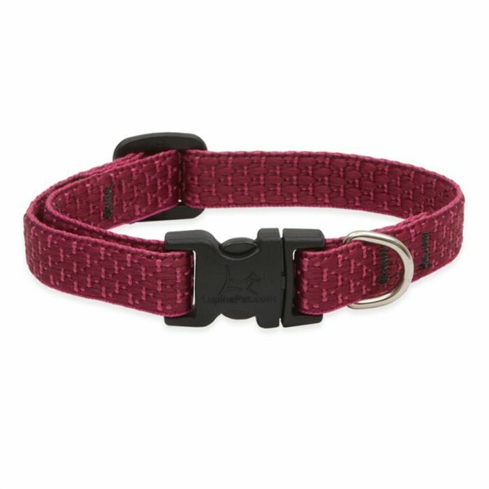 "Lupine Eco 3/4"" Collar 9-14"" Berry"
