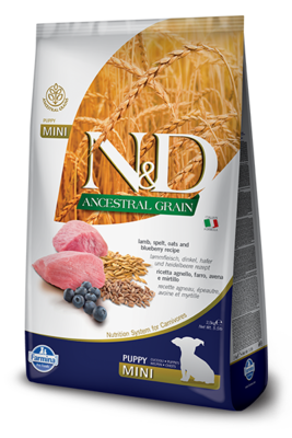 Farmina Dog Ancestral Grains 5.5lb Mini Puppy/Lamb