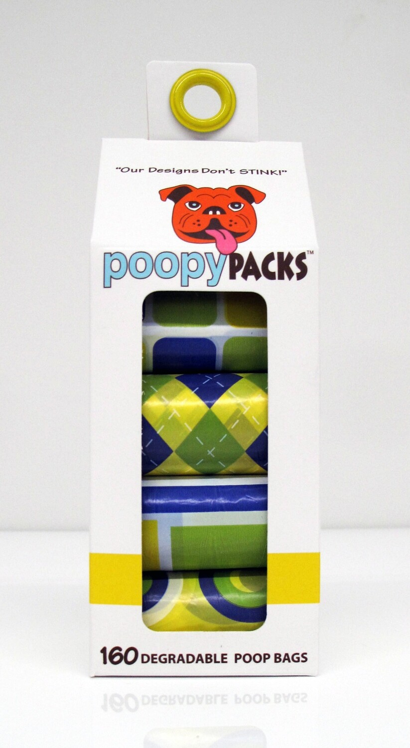 Metro Paws Poopy 8 Roll Pack 160ct Yellow