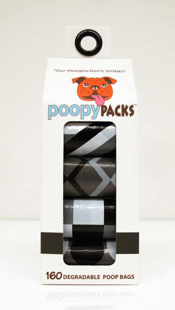 Metro Paws Poopy 8 Roll Pack 160ct Black