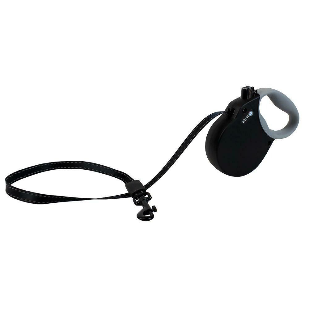 Alcott Reflective Adventure Retractable Leash Black XS 10'