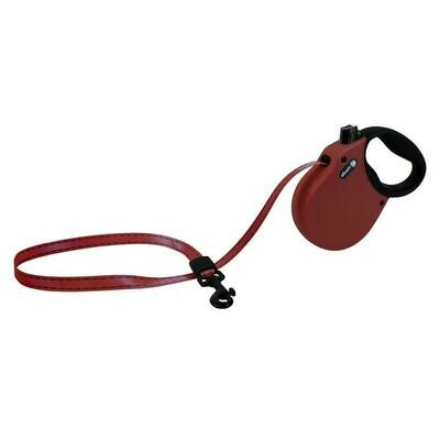 Alcott XSmall Retractable Reflective Red Leash 10'