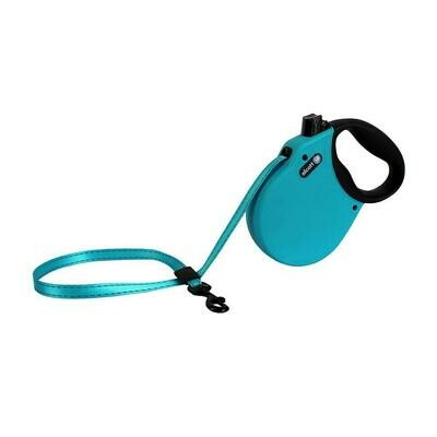 Alcott Small Retractable Reflective Blue Leash 16'