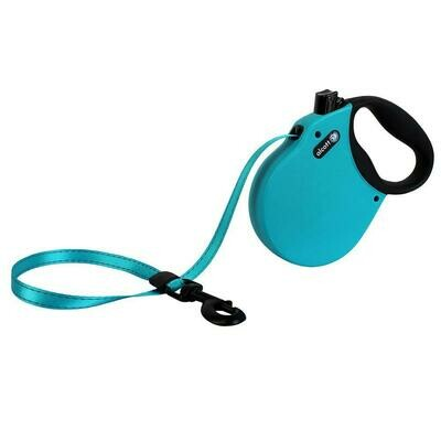Alcott Large Retractable Reflective Blue Leash 16'