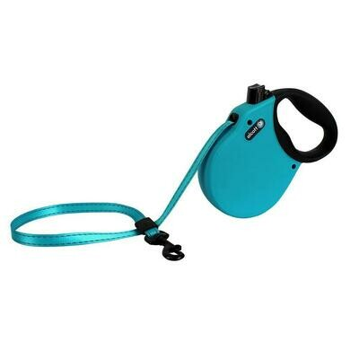 Alcott Medium Retractable Reflective Blue Leash 16'