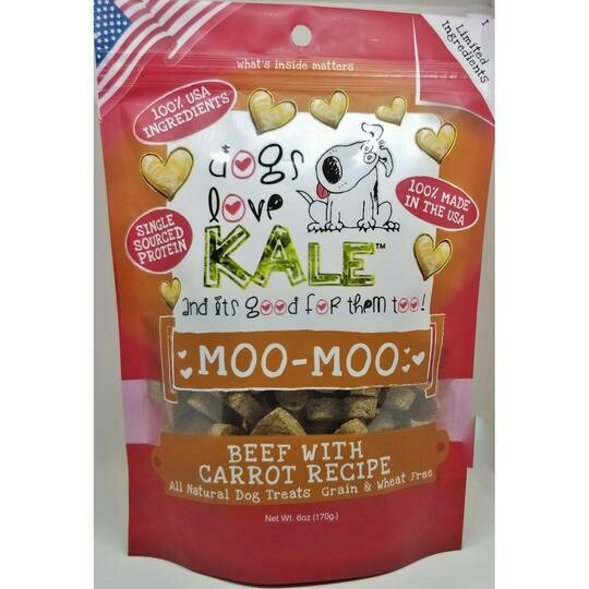 Dogs Love Kale Dog Treats Moo-Moo