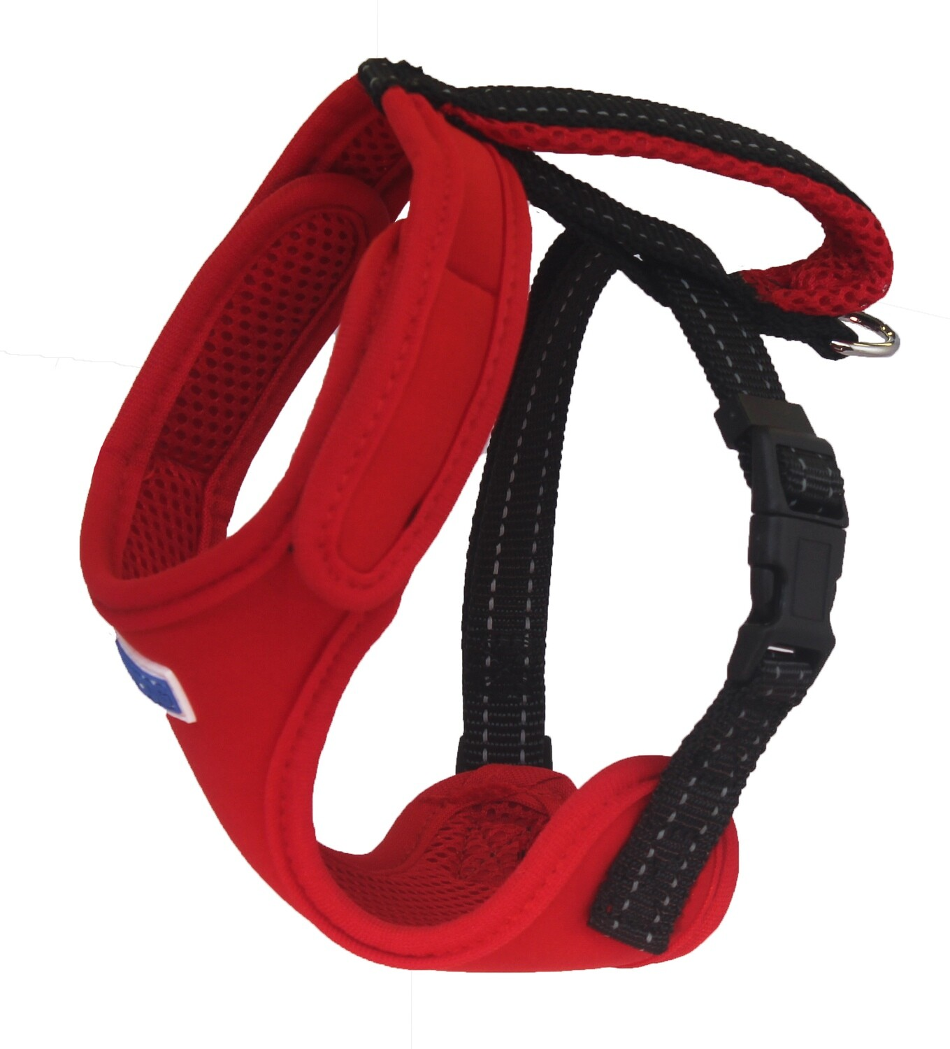 BAYDOG Cape Cod Harness Med Red