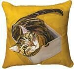 Jazzy Tabby Cat Pillow