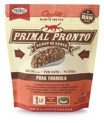 Primal Cat Pronto Scoop & Serve 1lb Pork