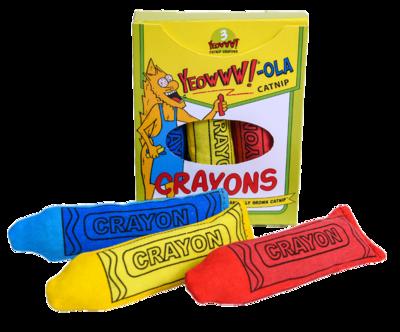 Yeowww-ola Catnip Crayons 3 Pk