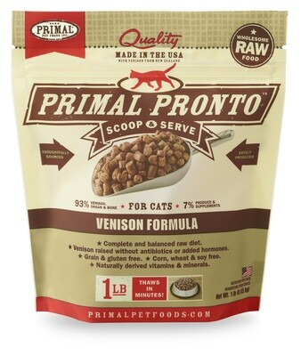 Primal Cat Pronto Scoop & Serve 1lb Venison