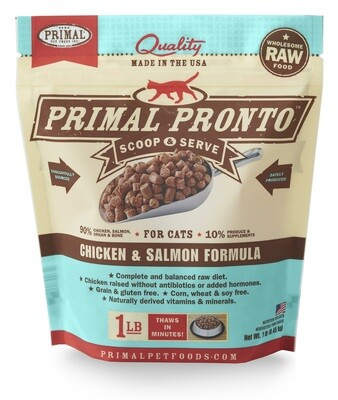 Primal Cat Pronto Scoop & Serve 1lb Chicken & Salmon