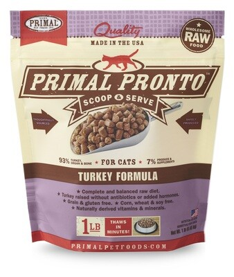 Primal Cat Pronto Scoop & Serve 1lb Turkey