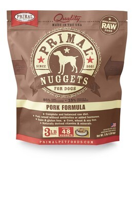 Primal Dog Frozen Nuggets 3lb Pork