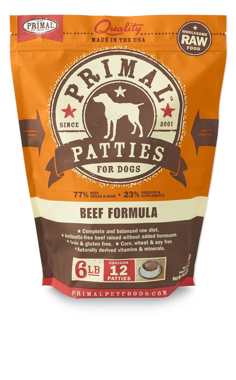 Primal Dog Patties 6lb Beef