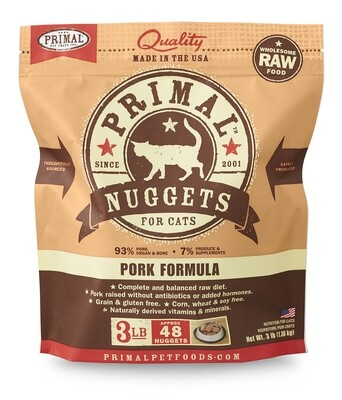 Primal Cat Frozen Nuggets 3lb Pork