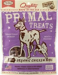 Primal Organic Chicken Nibs Treats 4oz