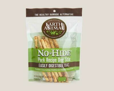 Earth Animal No Hide Chew Stix 10pk Pork