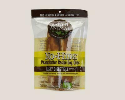 Earth Animal No Hide Chew 2pk Peanut Butter 4 inch