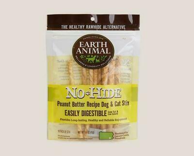 Earth Animal No Hide Chew Stix 10pk Peanut Butter
