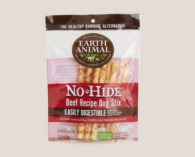 Earth Animal No Hide Chew Stix 10pk Beef