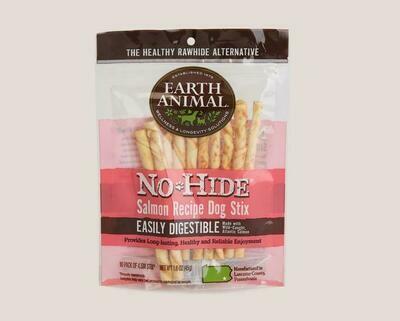 Earth Animal No Hide Chew Stix 10pk Salmon