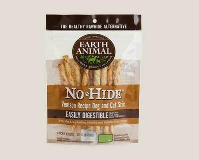 Earth Animal No Hide Chew Stix 10pk Venison
