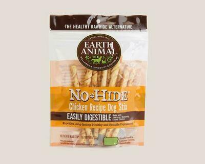 Earth Animal No Hide Chew Stix 10pk Chicken