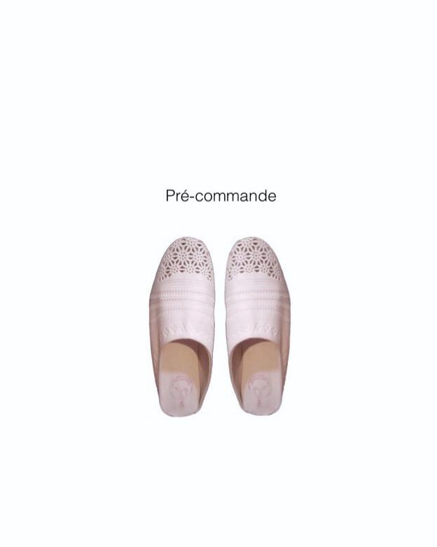 【Pré-commande】Babouche T / Blanc