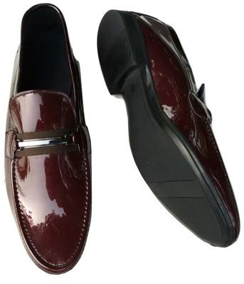 Abanaija Classy Patent Shoe - Brown