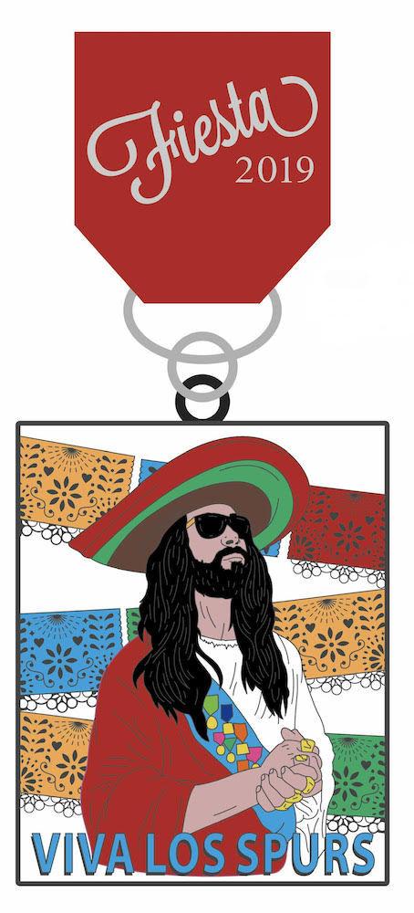 Spurs Jesus Fiesta Medal || FREE SHIPPING 0000000001