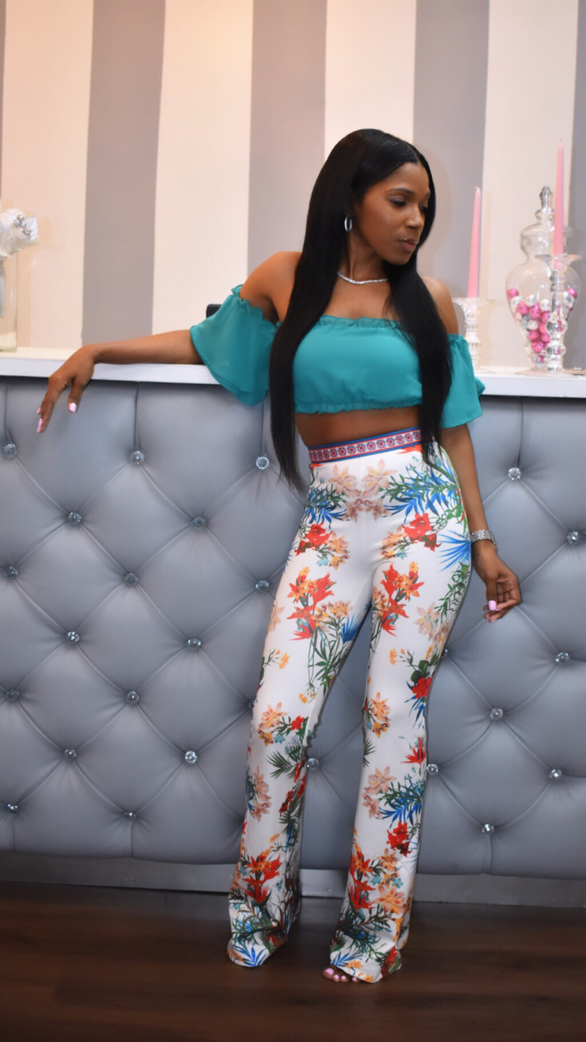 Spring Has Sprung Flare Floral Pants