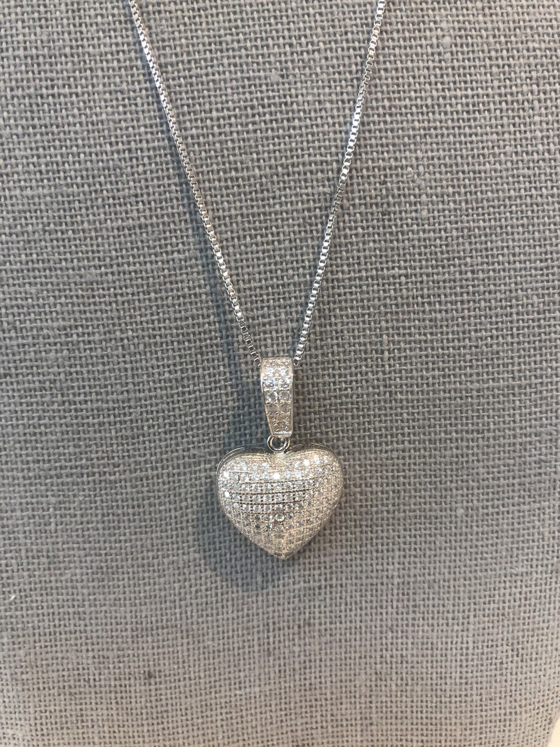 Small Bubble Heart Necklace