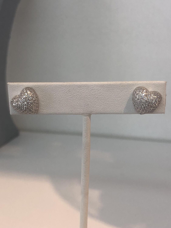 Medium Heart Stud Earrings