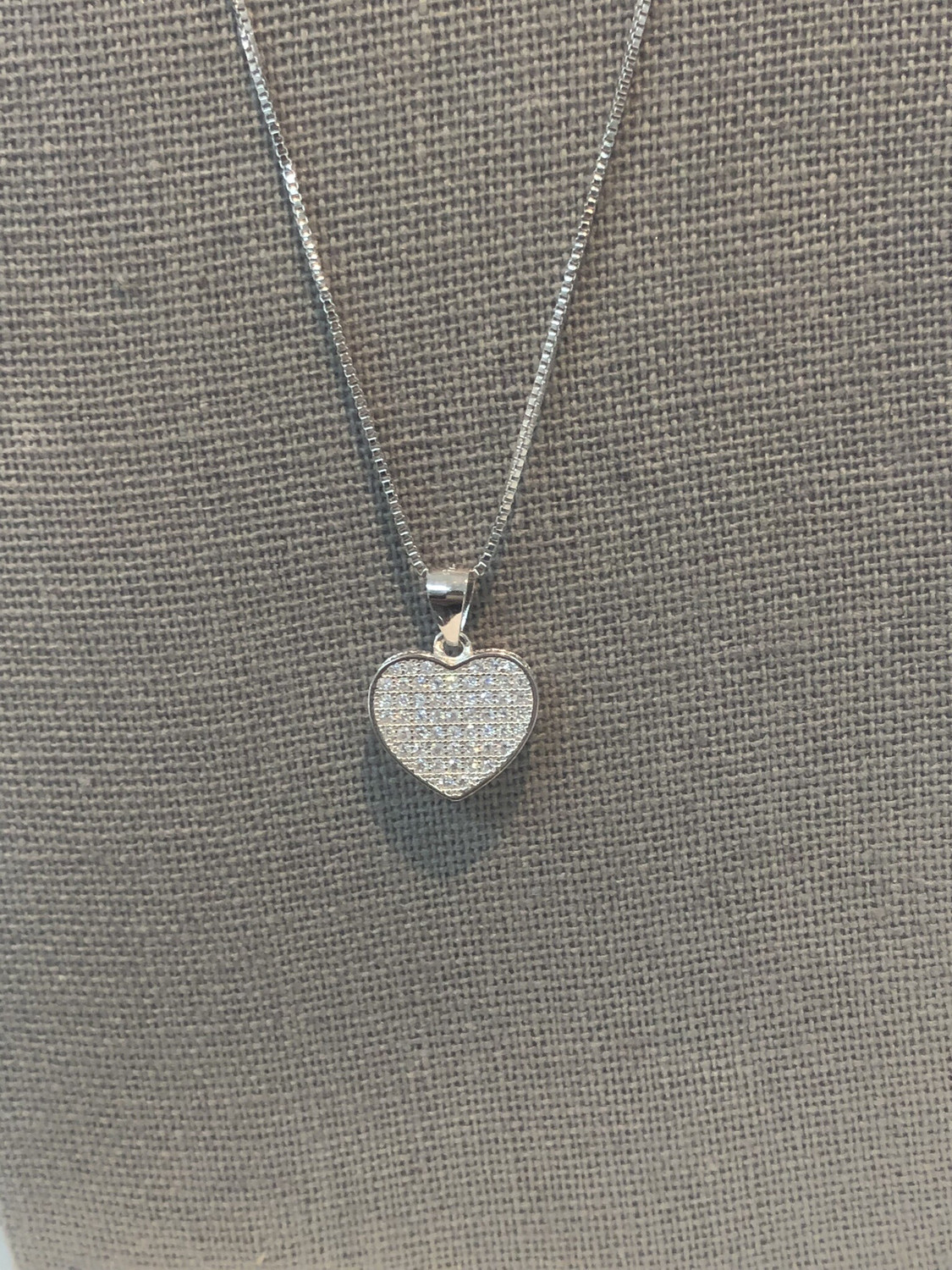 Small Flat Heart Necklace