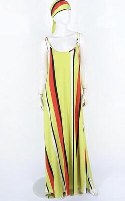 Total Beach Lime Stripe Dress