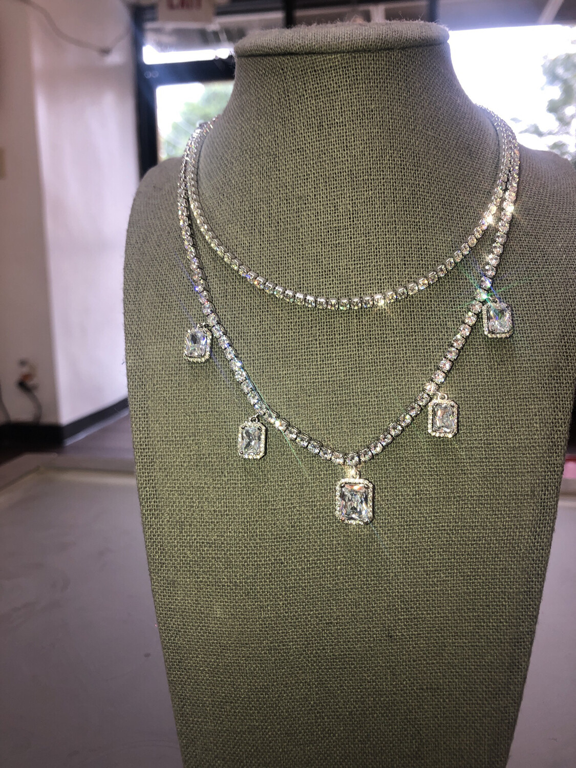 Charm Tennis Necklace