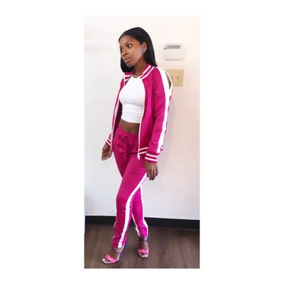 Pink 2 Piece Jogger Set