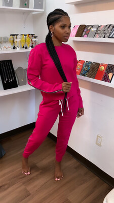 Pink Zip It Jogger Set