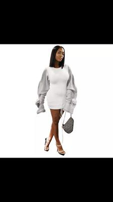 Oversize Sleeve Sweater Dress
