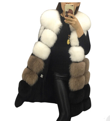 Color Block Vegan Fur Vest