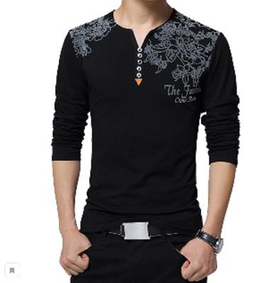 Мужская футболка Генри черная