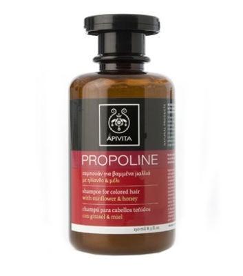 image of PROPOLINE σαμπουάν για βαμμένα μαλλιά με ηλίανθο&μέλι