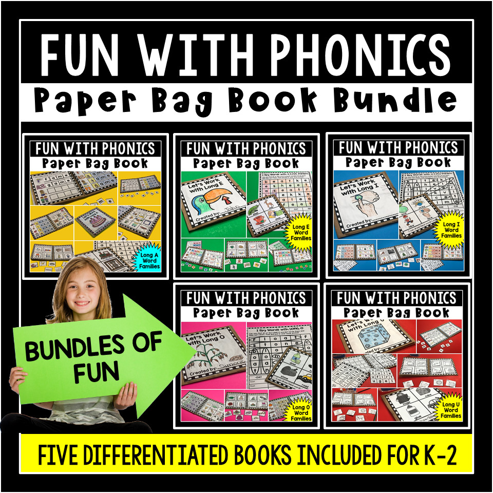 Fun with Phonics Paper Bag Books for Long Vowels