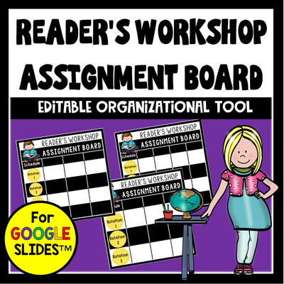 Reader's Workshop Assignment Board