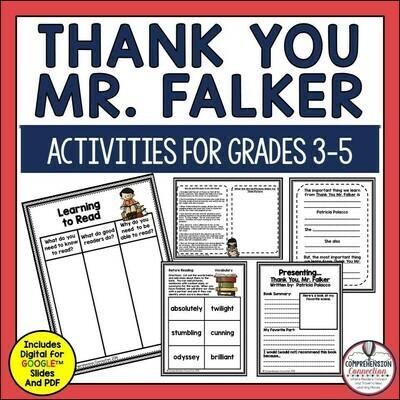 Thank You Mr. Falker Book Companion