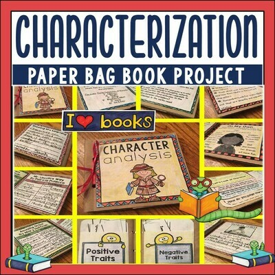 Characterization Paper Bag Book for Comprehension